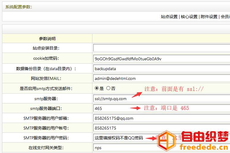爱上源码网文章织梦会员注册邮箱验证发送邮件配置教程的内容插图3