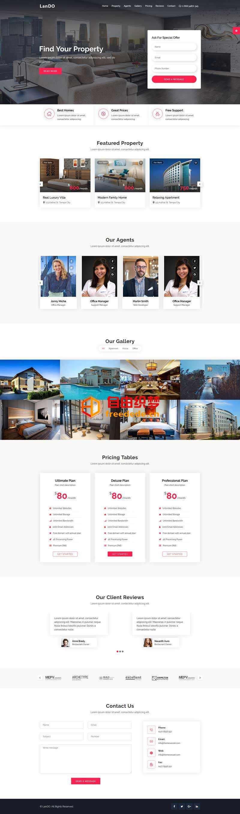 爱上源码网文章房产租赁服务介绍单页模板的内容插图