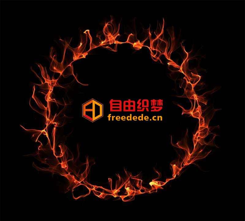 爱上源码网文章燃烧的火圈canvas特效的内容插图
