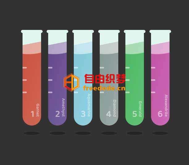 爱上源码网文章彩色的试管液体流动ui特效的内容插图