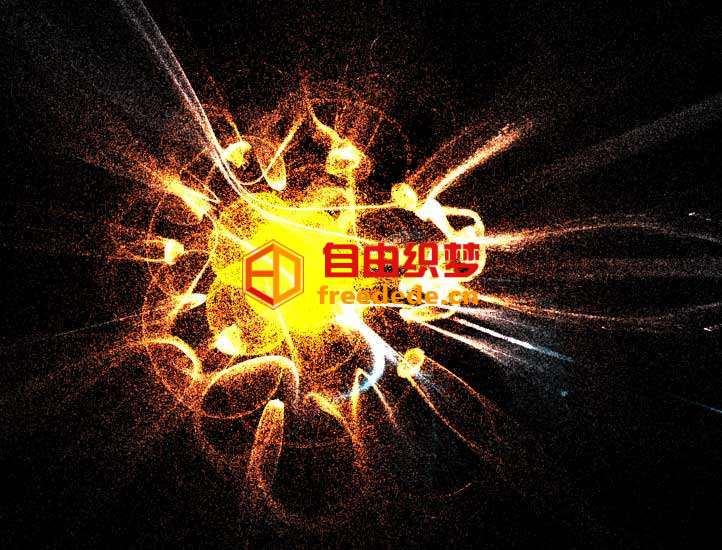爱上源码网文章Three宇宙粒子爆炸动画特效的内容插图