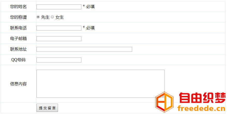 爱上源码网文章帝国CMS模板在内容页添加信息反馈表单详细代码的内容插图