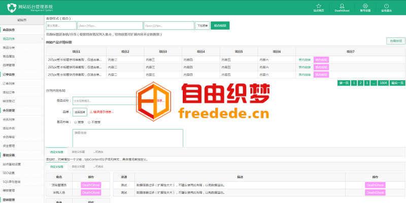 爱上源码网文章绿色清爽的cms商城后台管理系统模板的内容插图