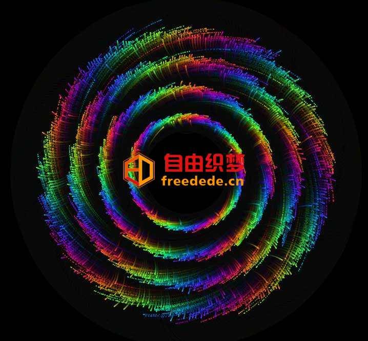 爱上源码网文章彩色旋转的圆圈canvas动画的内容插图