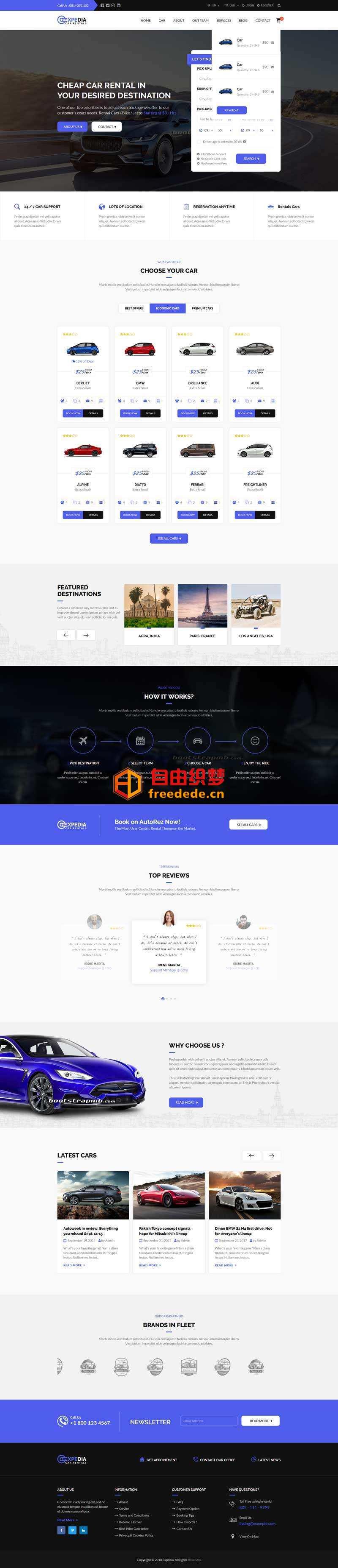 爱上源码网文章Bootstrap汽车租赁平台网站模板的内容插图