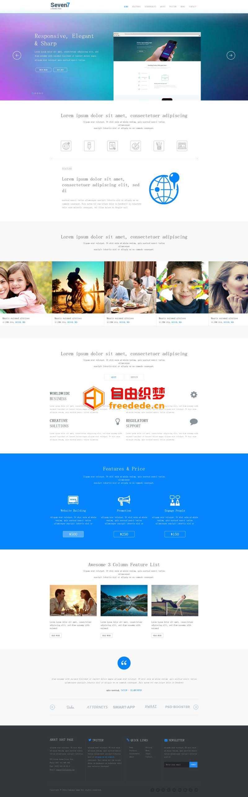 爱上源码网文章简洁win8风格的设计工作室HTML5网页单页模板下载的内容插图