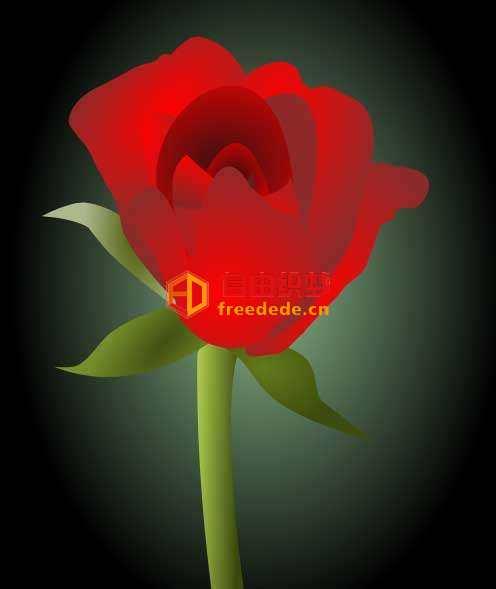 爱上源码网文章svg绘制盛开的玫瑰花动画特效的内容插图