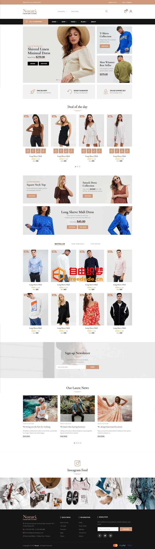 爱上源码网文章实用的时装购物商店网页模板的内容插图