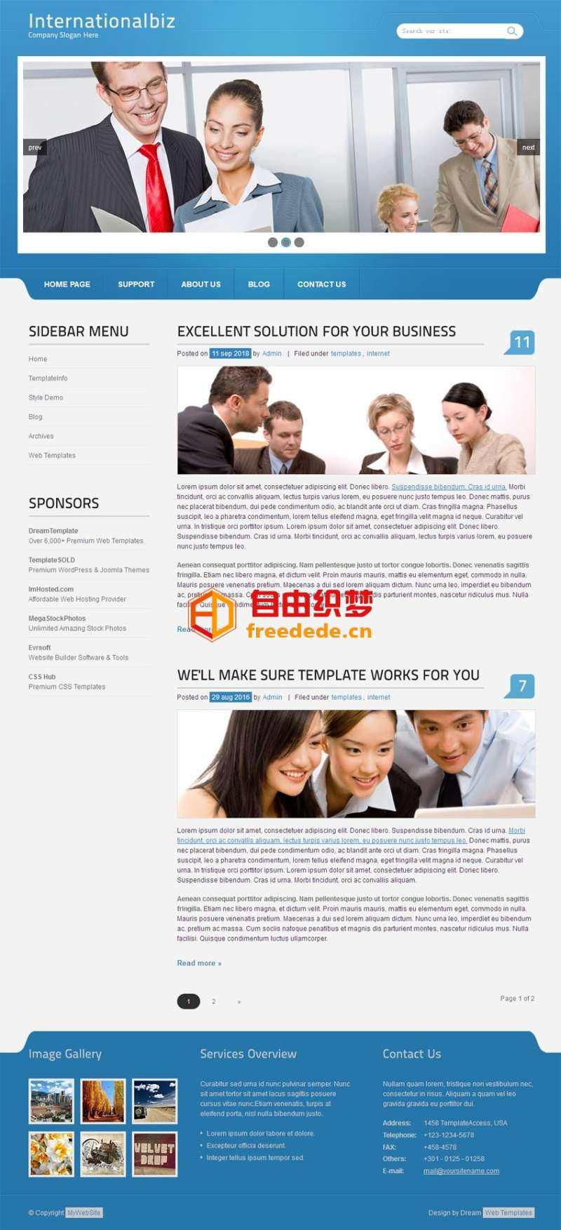 爱上源码网文章国外简单的企业商务型网站模板html全站下载的内容插图