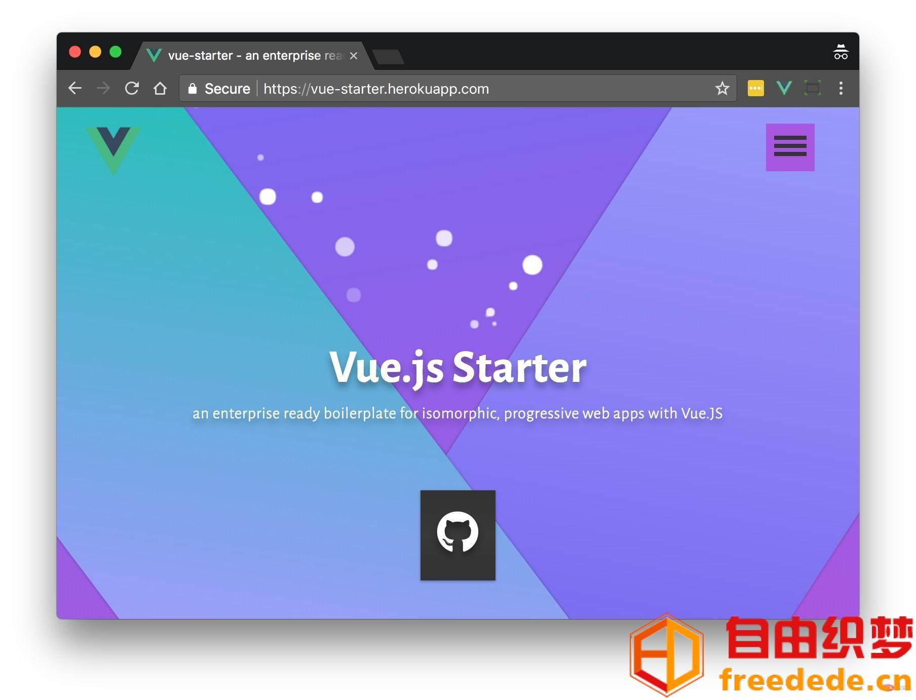 爱上源码网文章5个很棒的Vue.js项目模板的内容插图2