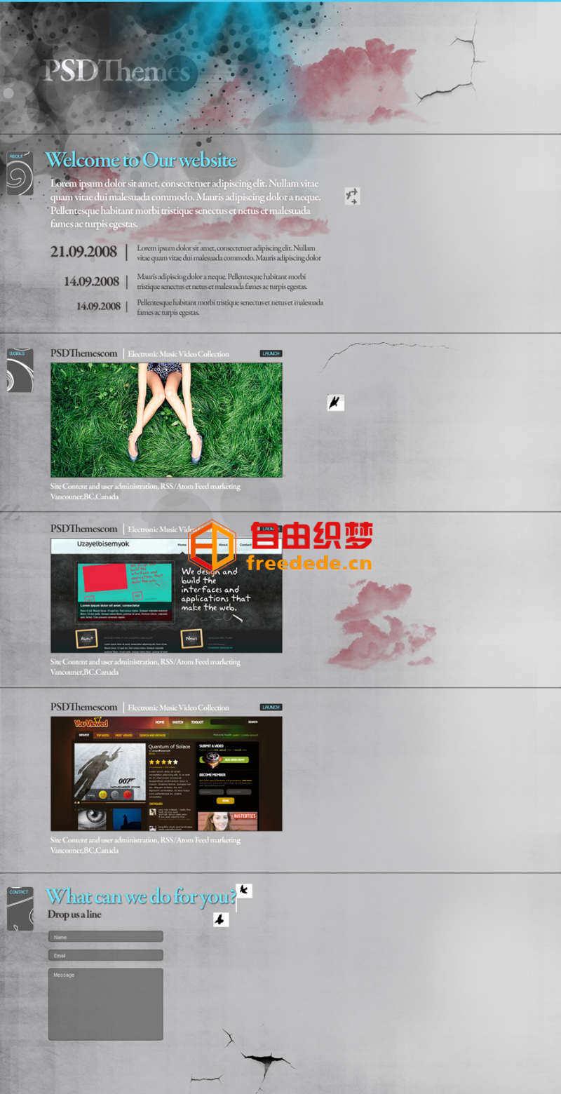 爱上源码网文章灰色网页的psd轻博客网页模板下载的内容插图