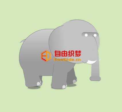 爱上源码网文章纯css3绘制大象走路动画特效的内容插图