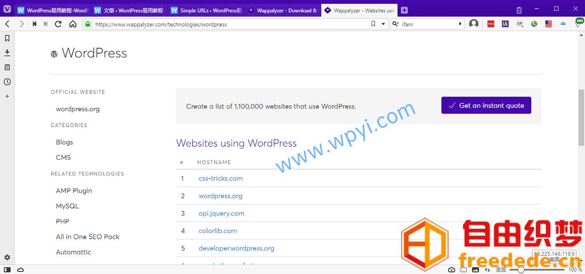 爱上源码网文章Wappalyzer插件检测哪些网站在用WordPress的内容插图