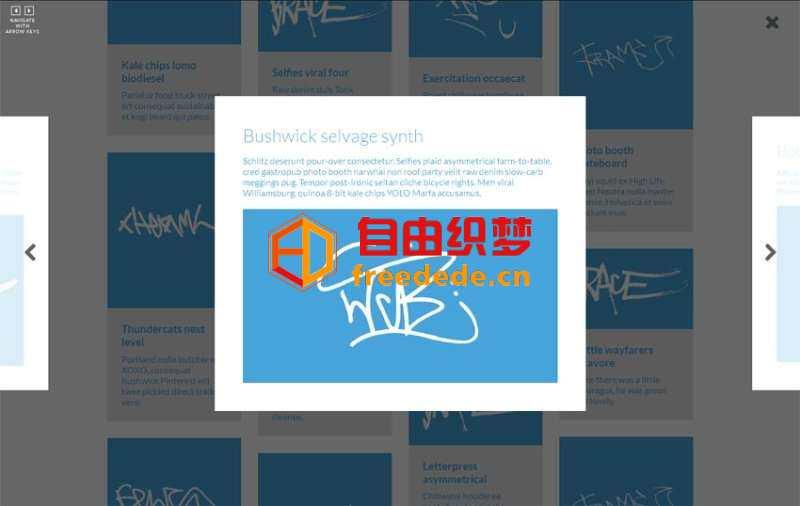 爱上源码网文章html5 modernizr图片瀑布流布局点击弹出图片滑动预览的内容插图