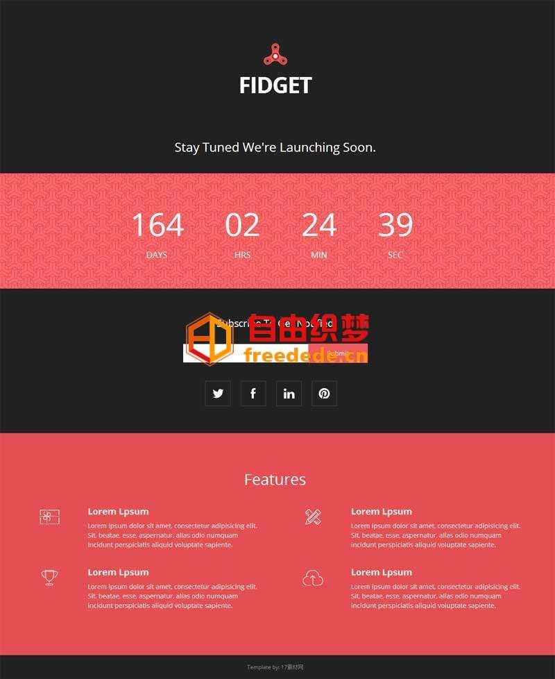 爱上源码网文章红色实用的网站上线时间网页模板下载的内容插图