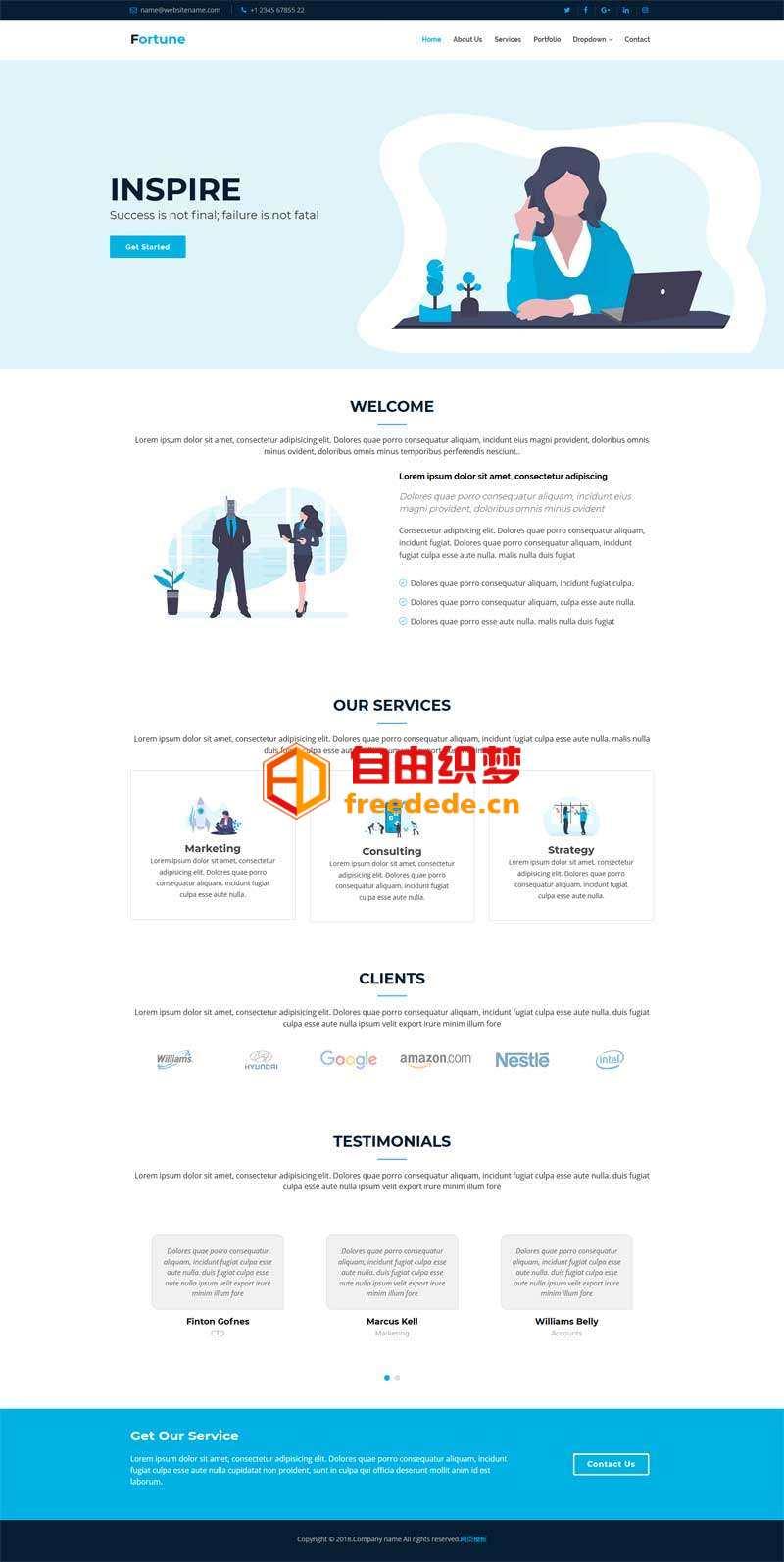爱上源码网文章简洁的咨询企业网站通用模板的内容插图