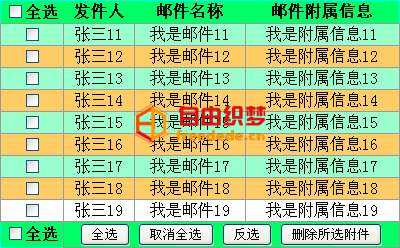 爱上源码网文章原生js table表格列表全选反选和表格列表删除的内容插图